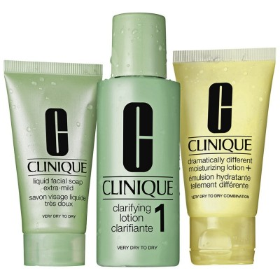 CLINIQUE INTRO KIT SKIN TYPES 1, ZESTAW 3 KROKI TYP 1 SKÓRA SUCHA