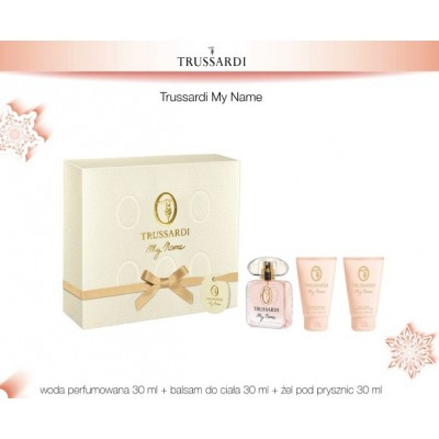 TRUSSARDI MY NAME ZESTAW EDP 30ML + BODY LOTION 30ML + SHOWER GEL 30ML