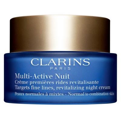 CLARINS MULTI-ACTIVE NUIT CREME PREMIERES RIDES REVITALISANTE 30+