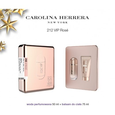 CAROLINA HERRERA 212 VIP ROSÉ ZESTAW EDP 50ML + BODY LOTION 100ML