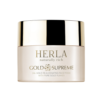 HERLA GOLD SUPREME 24k Gold Rejuvenating Face Mask with Pure Gold Flakes