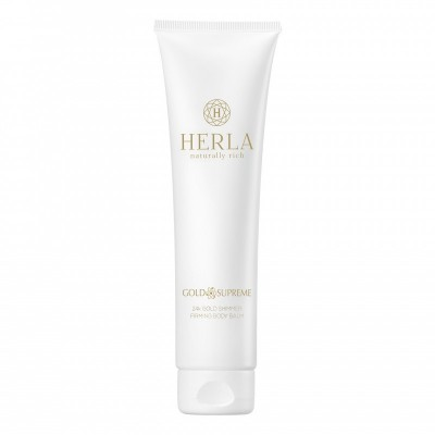 HERLA GOLD SUPREME 24k Gold Shimmer Firming Body Balm with Pure Gold Flakes