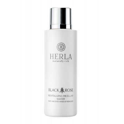 HERLA Black Rose Revitalizing Micelar Water. Face and Eyes Make-Up Removal Rewitalizujący