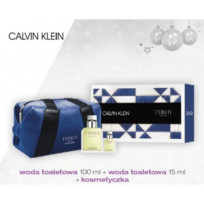 CALVIN KLEIN ETERNITY FOR MEN EDT 100ML + 15ML W KOSMETYCZCE