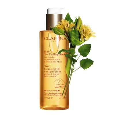 CLARINS Total Cleansing Oil Olejek do demakijażu twarzy i oczu z alpejskimi ekstraktami z gencjany i melisy