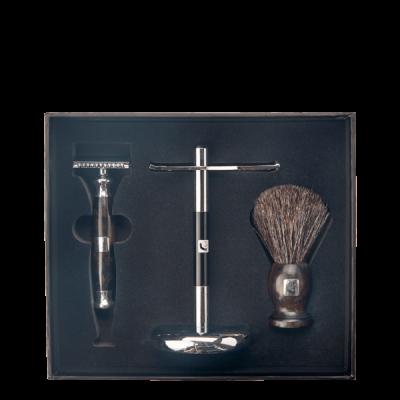 BARBERIANS Shaving Set Safety Razor, Shaving Brush Pure Badger & Stand