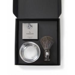 BARBERIANS Barber Kit Shaving Brush Pure Badger, Shaving Cream & Bowl