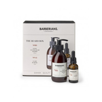BARBERIANS Beard Box Cleansing Beard Shampoo, Beard Oil